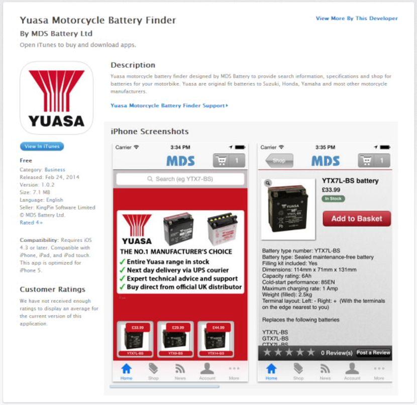 Yuasa Battery Finder