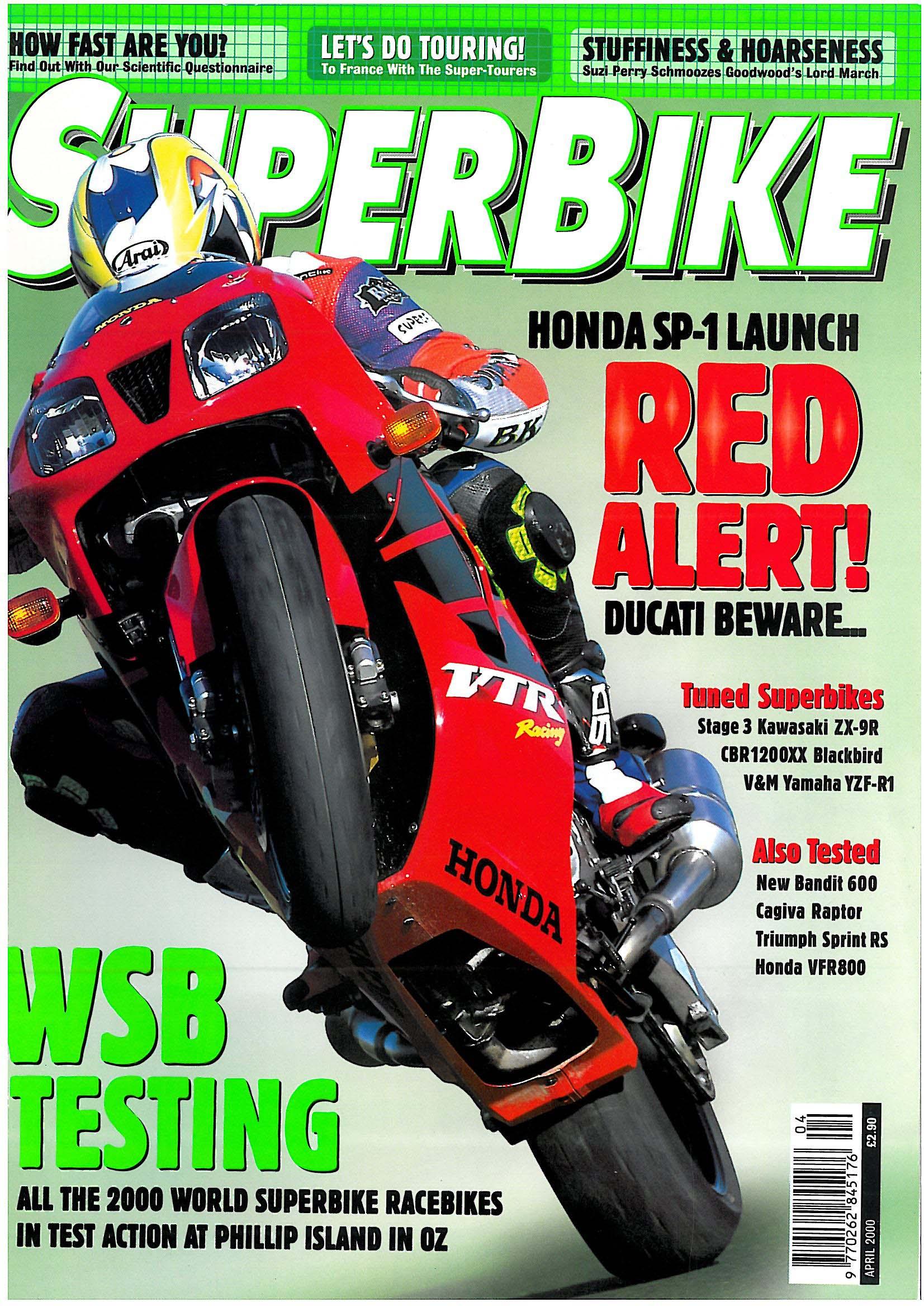Honda vtr 1000 sp 1 superbike magazine for Time magazine subscription cancellation
