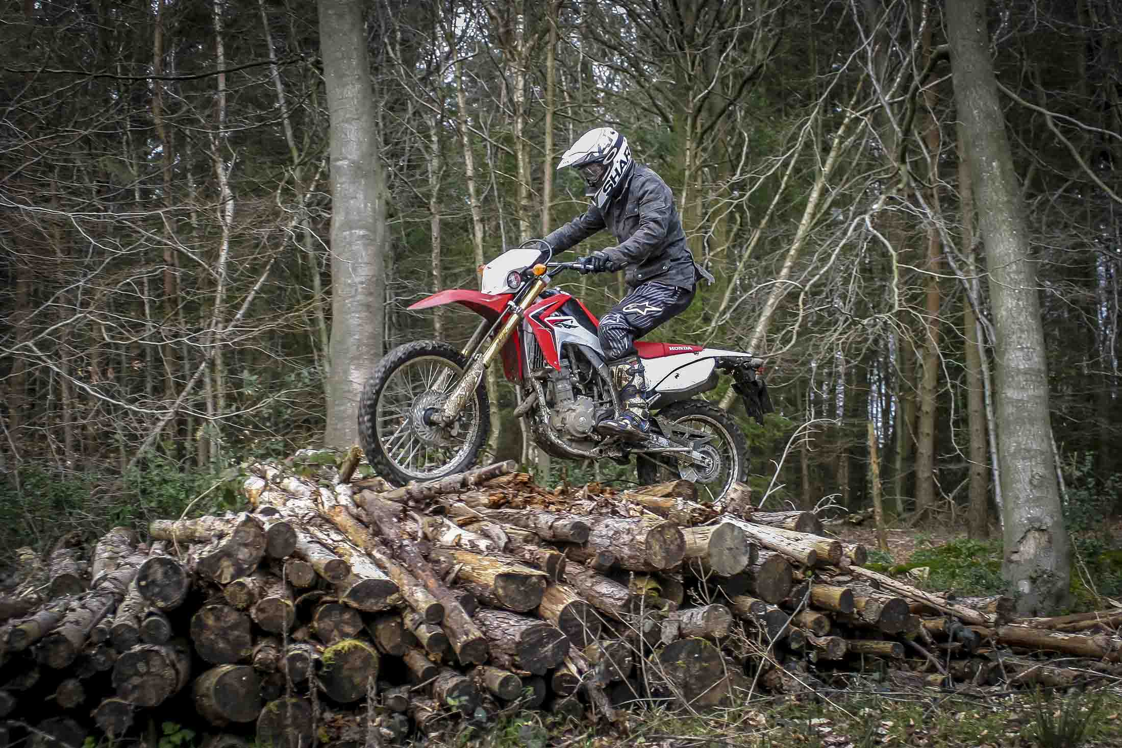 Honda Crf250l Long Term Test The Ultimate Second Bike Superbike 2014 250cc Dirt Slippery Logs No Problem For Crf Pic Credit Phil Steinhardt