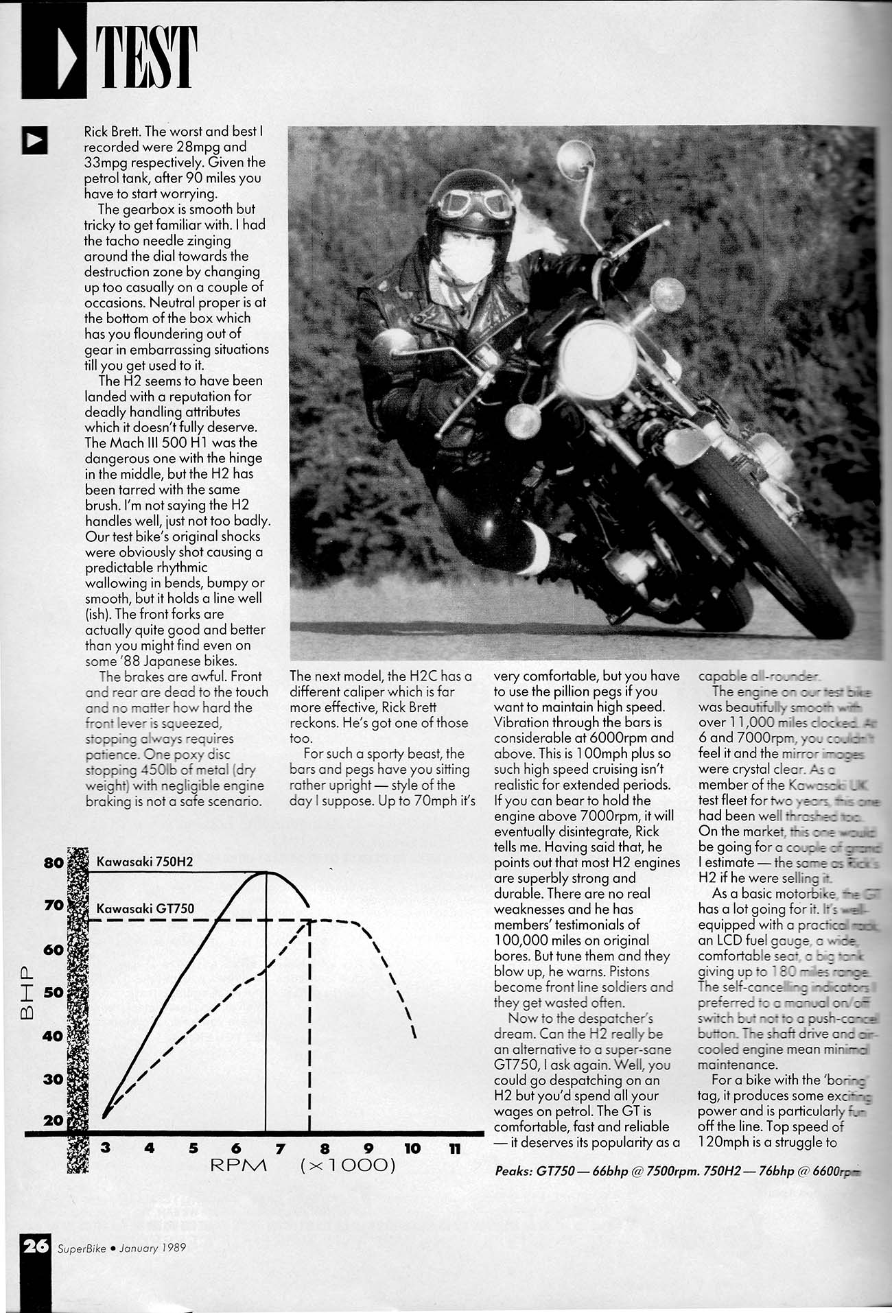 Throwback Thursday Testing The First Kawasaki H2 Superbike Magazine
