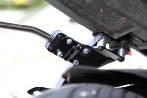 GSX-S SW-Motech Blaze pannier rail bracket